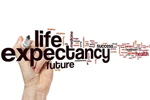 higher life expectancy